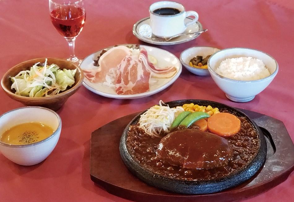 レストランハイポー デミグラスハンバーグコース