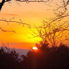 新立山(権現山)山頂からの初日の出